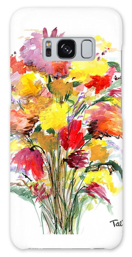 Flowers Galaxy S8 Case featuring the painting Floral Seven by Lynne Taetzsch