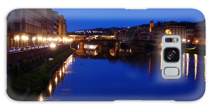 Italy Galaxy S8 Case featuring the photograph Florence Arno River Night by Patrick Witz