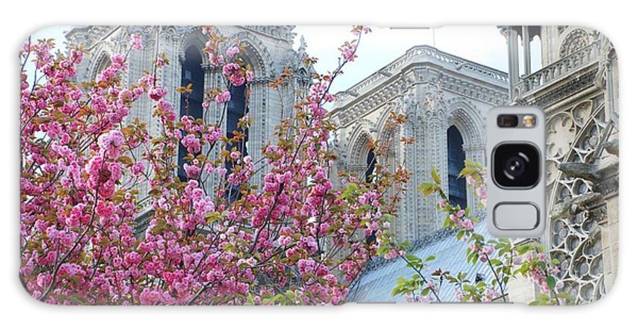 Notre Dame Galaxy S8 Case featuring the photograph Flowering Notre Dame by Jennifer Ancker