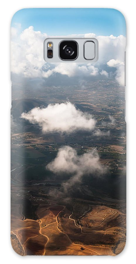 Aerial Galaxy S8 Case featuring the photograph Flying Over Spanish Land Iv by Jenny Rainbow