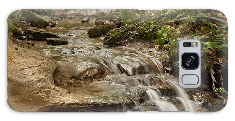Wagner Falls Galaxy S8 Case featuring the photograph Forest Falls by Cindy Lindow