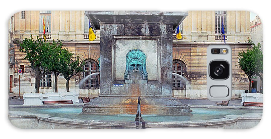 Arels Galaxy S8 Case featuring the photograph Fountain In Arles France by Greg Matchick