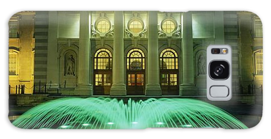Architecture Galaxy S8 Case featuring the photograph Fountain In Front Of A Government by The Irish Image Collection
