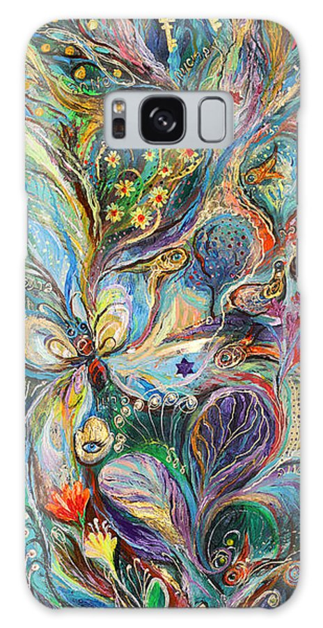 Original Galaxy S8 Case featuring the painting Four Elements Air Part 2 From 4 by Elena Kotliarker