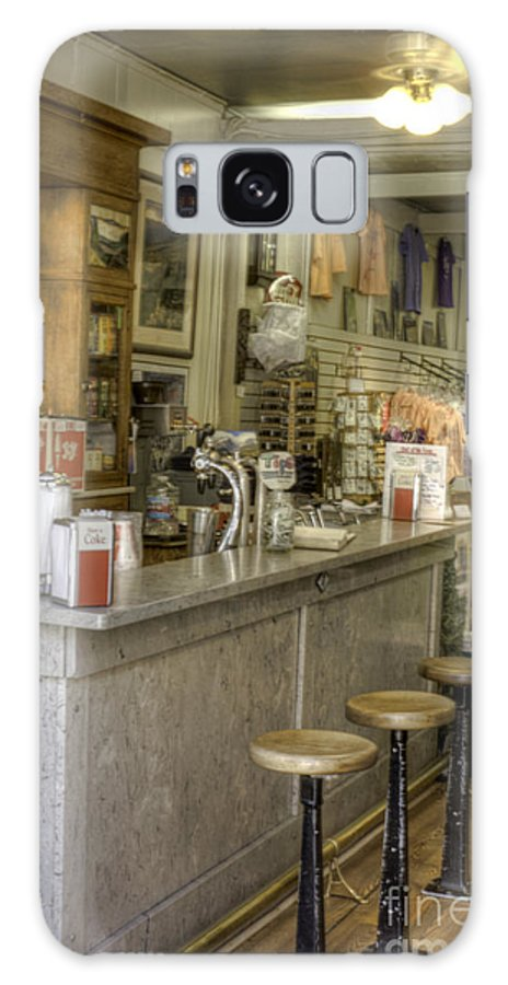 Soda Fountain Galaxy S8 Case featuring the photograph Four Stools by David Bearden