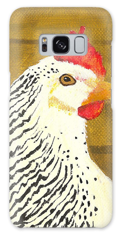 Painting Galaxy S8 Case featuring the painting Fowl Mood by Billinda Brandli DeVillez