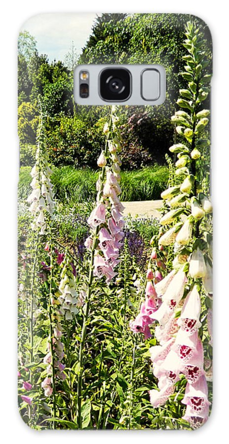 Foxgloves Galaxy S8 Case featuring the photograph Foxgloves by Sharon Lisa Clarke
