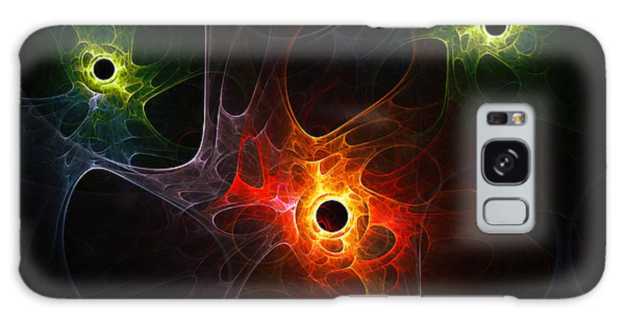 Fractal Network Net Digital Abstract Plasm Nebula Universe Space Braincell Cell Expressionism Color Colorful Digital Art Painting Galaxy S8 Case featuring the painting Fractal Network by Steve K