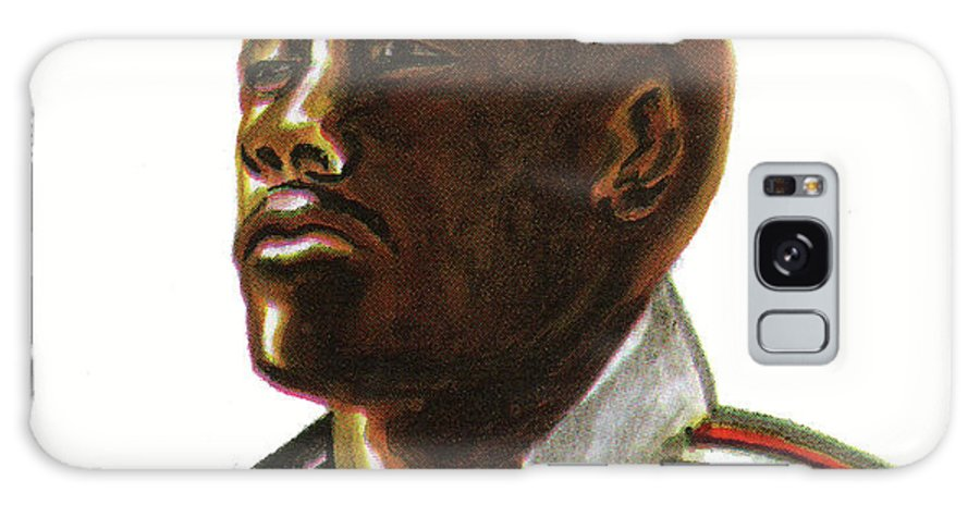 Portraits Galaxy S8 Case featuring the painting Franckie Fredericks by Emmanuel Baliyanga