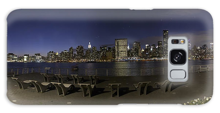 New York City Galaxy S8 Case featuring the photograph From Gantry At Night by Theodore Jones
