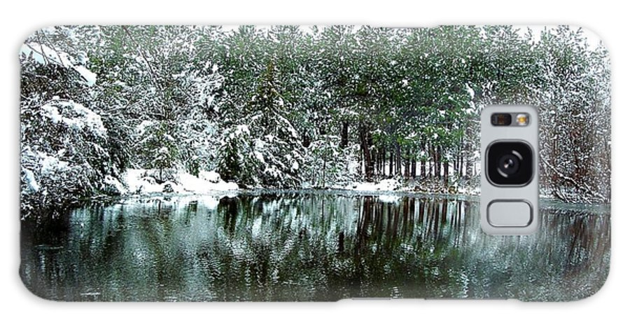 Landscape Galaxy S8 Case featuring the photograph Frozen Reflection by Tisha Clinkenbeard