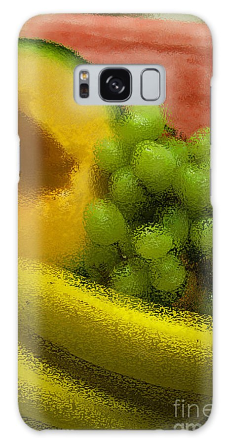 Fruit Galaxy S8 Case featuring the digital art Fruitopia by Peggy Starks