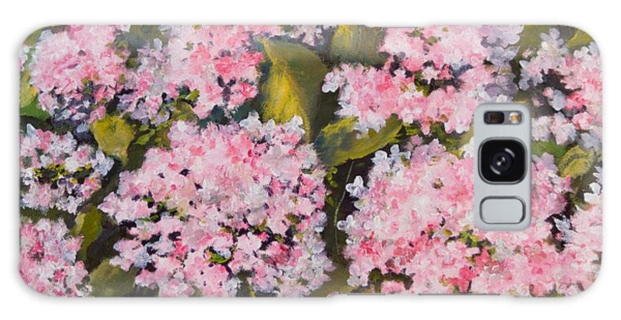 Garden Galaxy S8 Case featuring the painting Garden Close Up by Anastasia Saltabida