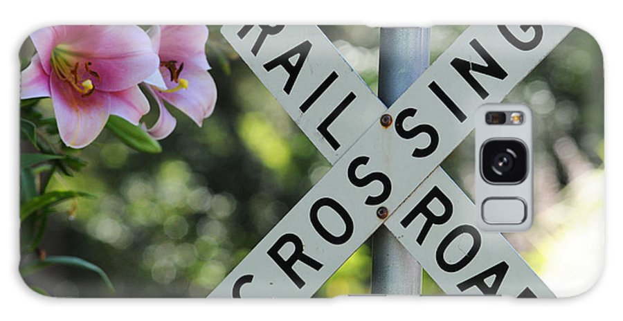 Railroad Galaxy S8 Case featuring the photograph Garden Crossing by Lynn Bauer