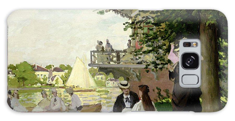 Garden Galaxy S8 Case featuring the painting Garden House On The Zaan - Zaandam by Claude Monet