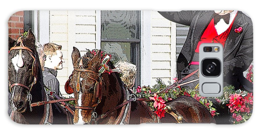 lebanon Horse Carriage Parade Galaxy S8 Case featuring the photograph Gentleman Driver by Jenny Gandert