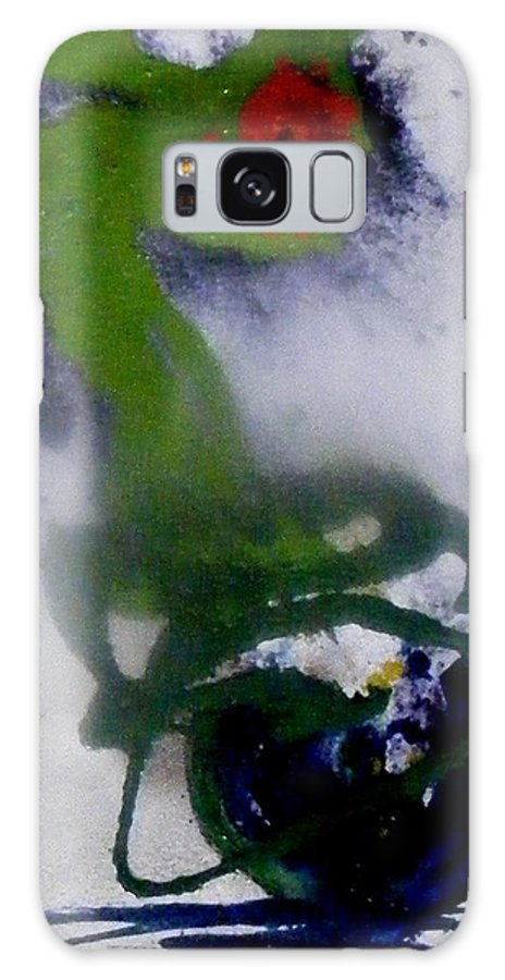 Flowers Galaxy S8 Case featuring the painting Ghost Flower by Pearlie Taylor