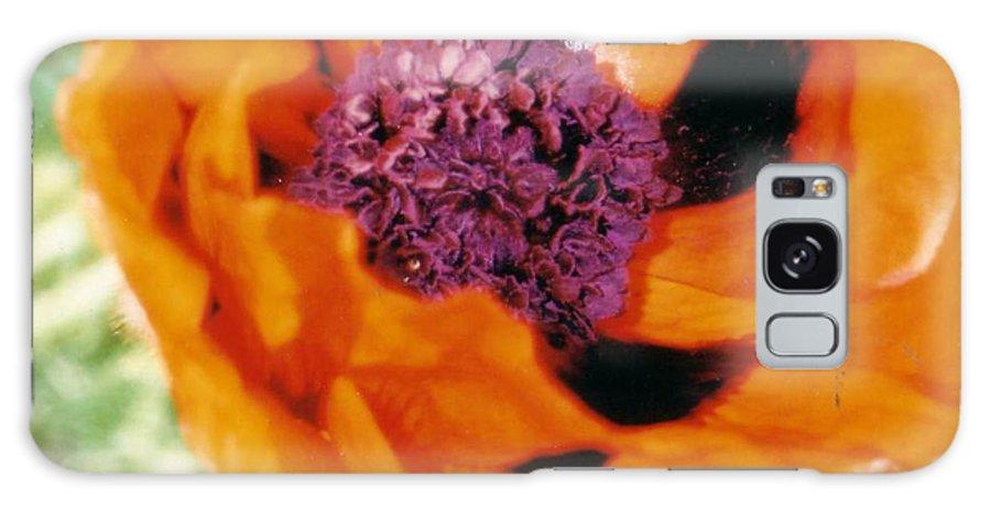 Flower Galaxy S8 Case featuring the photograph Giant Orange Poppy by Corinne Elizabeth Cowherd