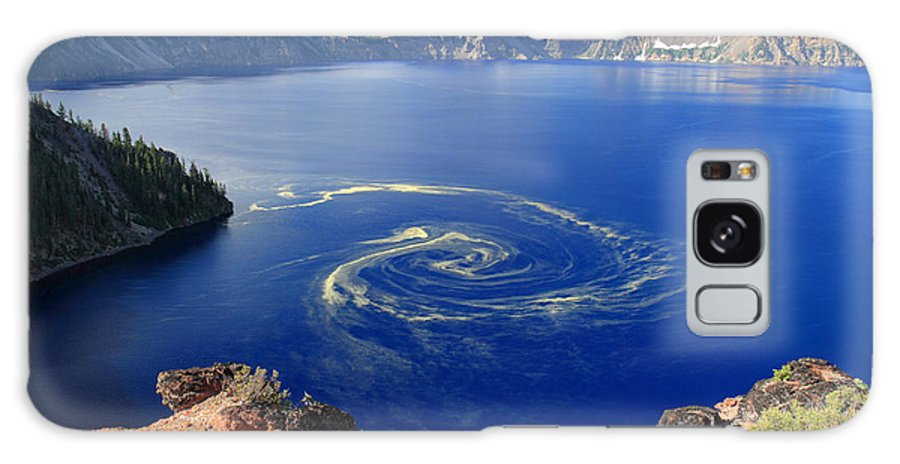 Crater Lake Galaxy S8 Case featuring the photograph Giant Swirl Of Pollen At Crater Lake National Park by Pierre Leclerc Photography