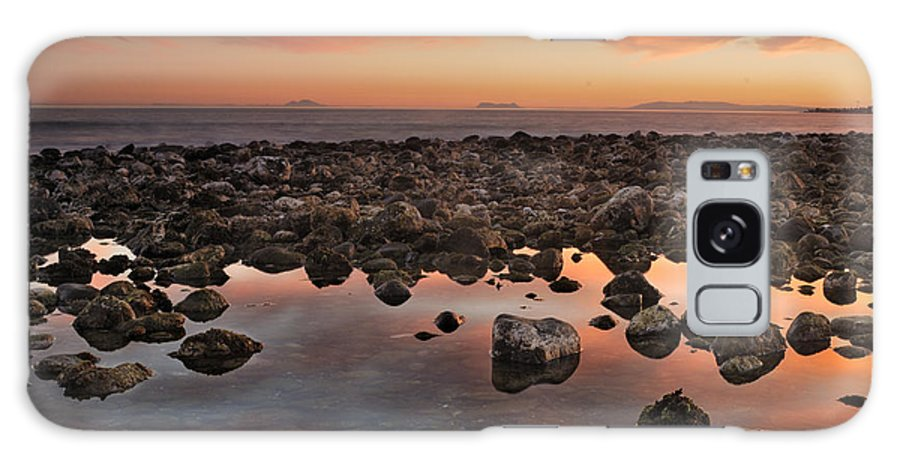 Seascape Galaxy S8 Case featuring the photograph Gibraltar And Africa And Spain In One Shot From Marbella by Guido Montanes Castillo