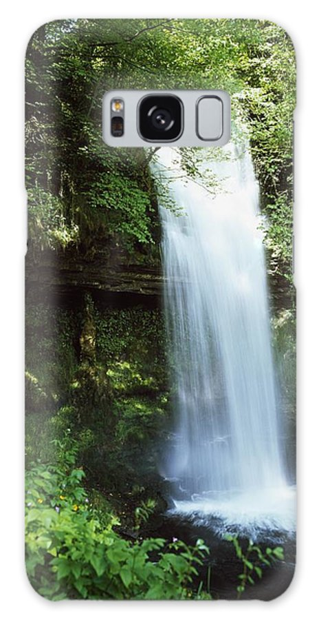 Blurred Motion Galaxy S8 Case featuring the photograph Glencar Waterfall, Yeats Country, Co by The Irish Image Collection