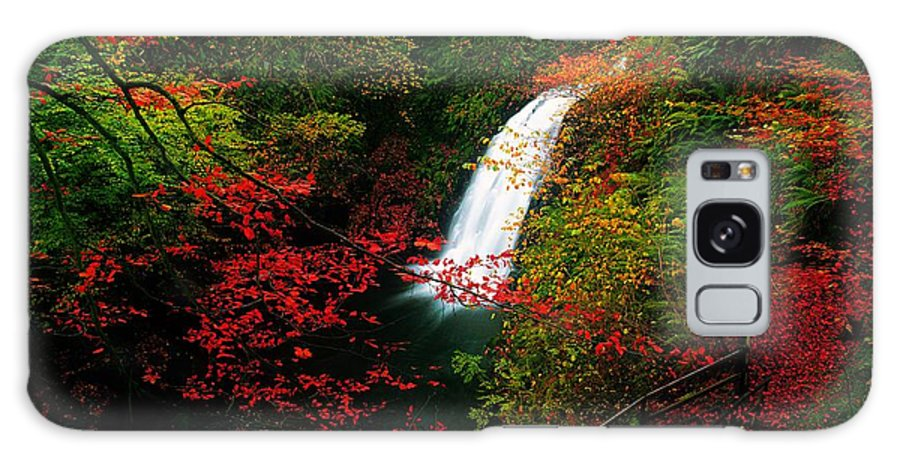 Autumn Galaxy S8 Case featuring the photograph Glenoe Waterfall And Glen, Co Antrim by The Irish Image Collection