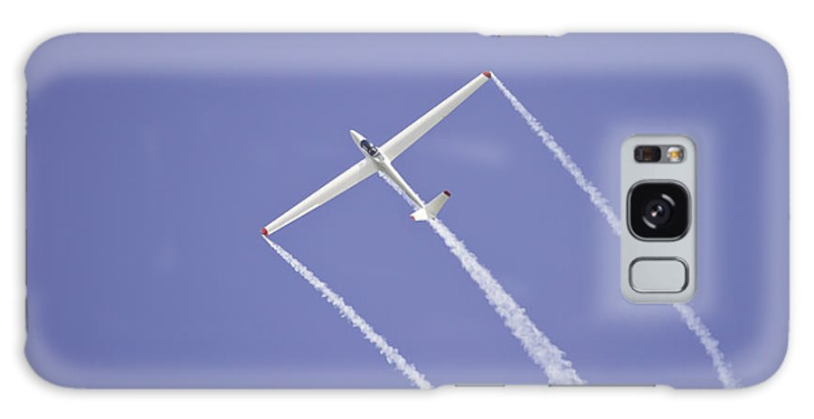 Plane Galaxy S8 Case featuring the photograph Glider Flying Aerobatics At Airshow Canvas Photo Poster Print by Keith Webber Jr