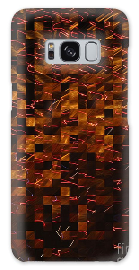 Golden Abstract Galaxy S8 Case featuring the photograph Golden Abstract by Joan Minchak