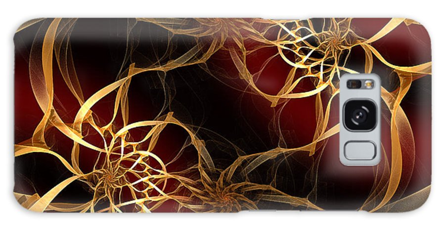 Andee Design Abstract Galaxy S8 Case featuring the digital art Golden Filigree by Andee Design