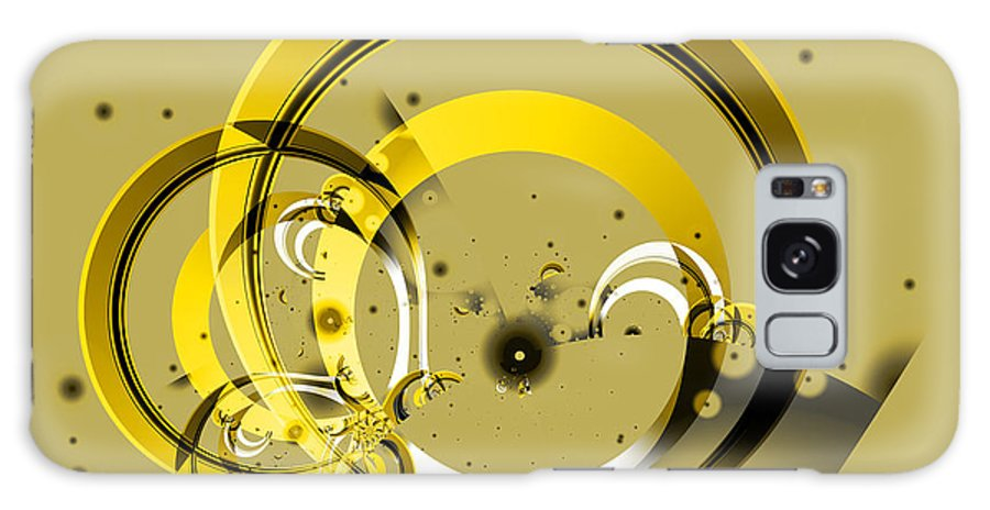 Fractal Galaxy Case featuring the digital art Golden Rings by Frederic Durville