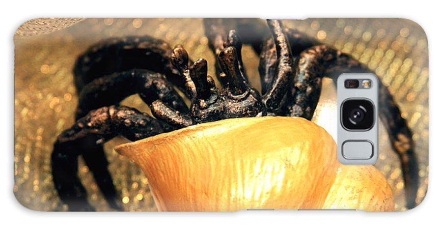 Gold Galaxy S8 Case featuring the photograph Golden Seashell Crab Still Life by Karon Melillo DeVega