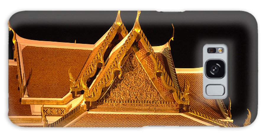 Bangkok Galaxy S8 Case featuring the photograph Golden Wat Temple Thailand by Bob Christopher