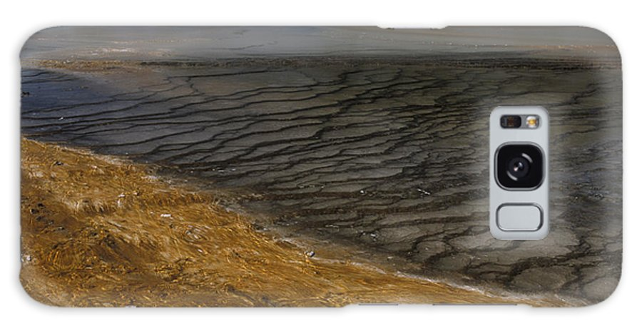 Yellowstone Galaxy S8 Case featuring the photograph Grand Prismatic Spring Runoff by Sandra Bronstein