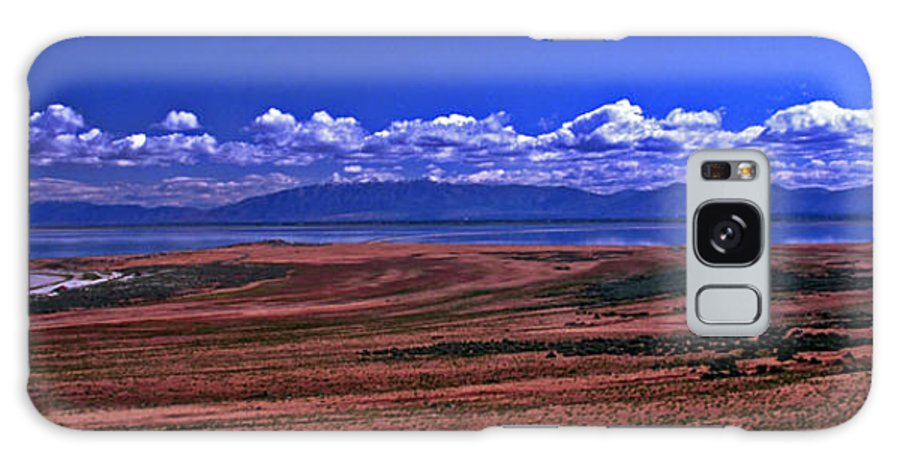 Utah Galaxy S8 Case featuring the photograph Great Salt Lake And Antelope Island by Rich Walter
