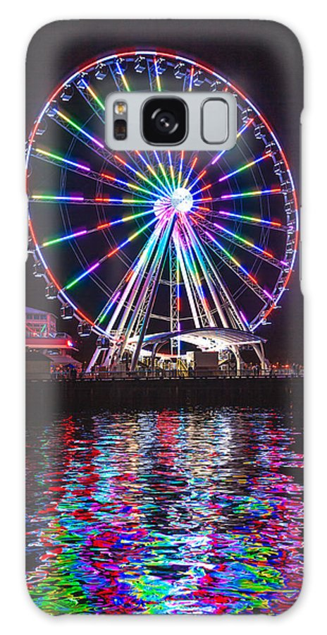 Seattle Galaxy S8 Case featuring the photograph Great Wheel B by Mike Penney