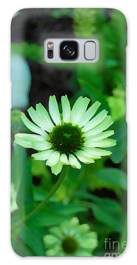 Green Flower Galaxy S8 Case featuring the photograph Green Flower by Eva Kaufman