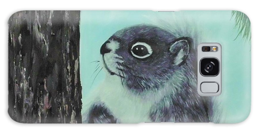 Animal Galaxy S8 Case featuring the painting Grey Squirrel by Peggy Miller