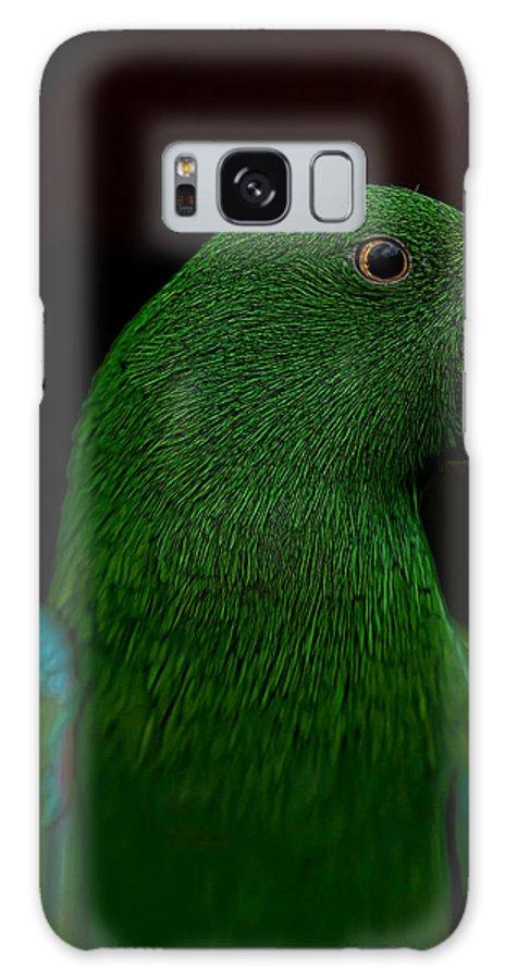 eclectus Parrot Galaxy S8 Case featuring the photograph Guacamole by Dan McManus