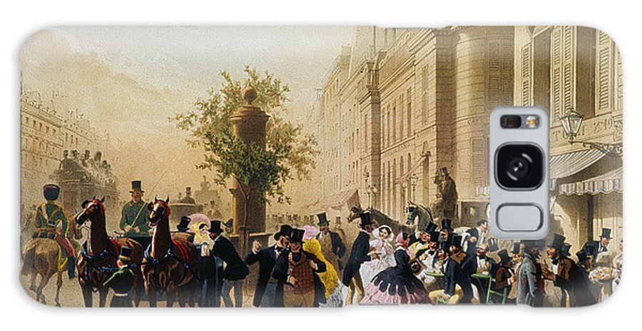 1856 Galaxy S8 Case featuring the photograph Guerard: Cafe Tortoni, 1856 by Granger
