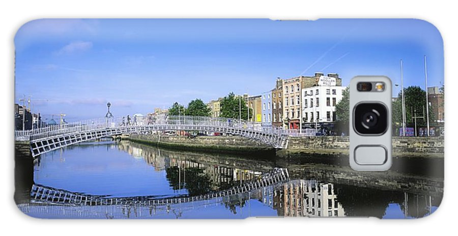 Blue Sky Galaxy S8 Case featuring the photograph Hapenny Bridge, River Liffey, Dublin by The Irish Image Collection