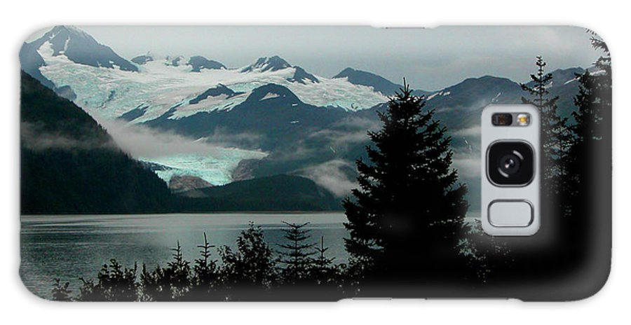 Black Galaxy S8 Case featuring the photograph Harriman Glacier by Peggy Starks