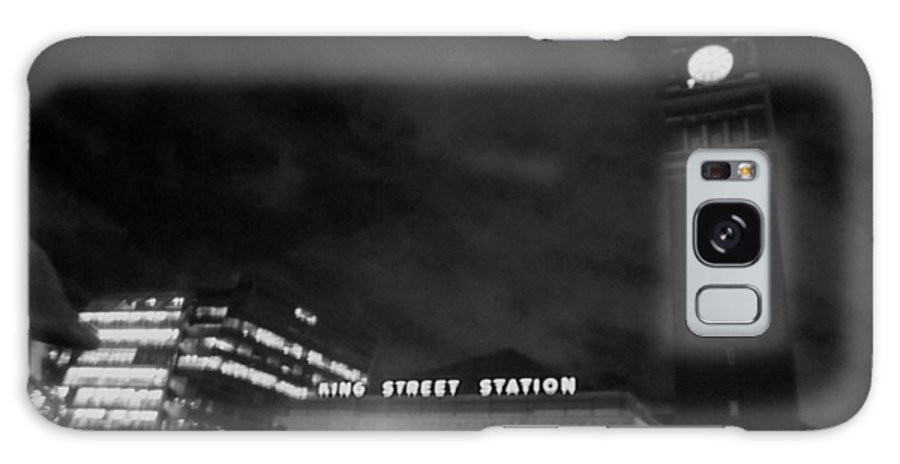 Black And White Galaxy S8 Case featuring the photograph Haunted King Street Station by Kym Backland