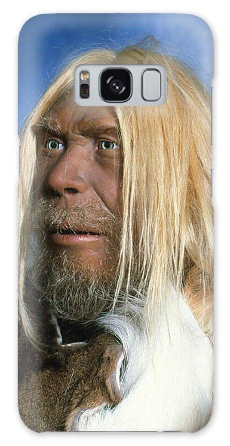 Neanderthal Galaxy S8 Case featuring the photograph Head Of A Model Of A Neanderthal Man by Volker Stegernordstar - 4 Million Years Of Man