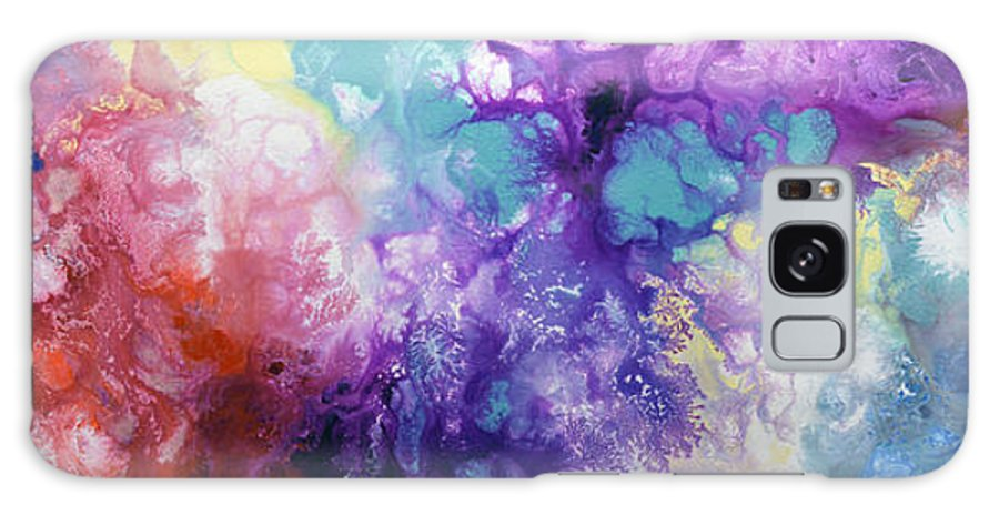 Rainbow Paintings Galaxy S8 Case featuring the painting Healing Energies by Sally Trace
