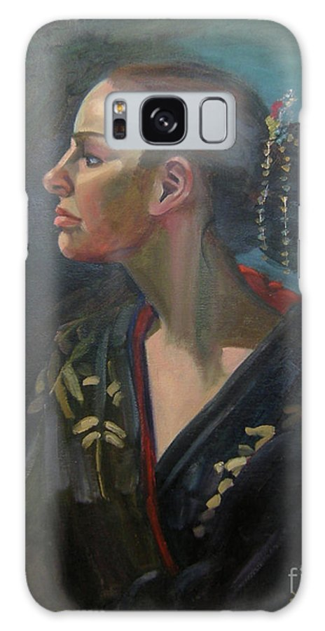 Figure Art Galaxy S8 Case featuring the painting Her Kimono by Lilibeth Andre