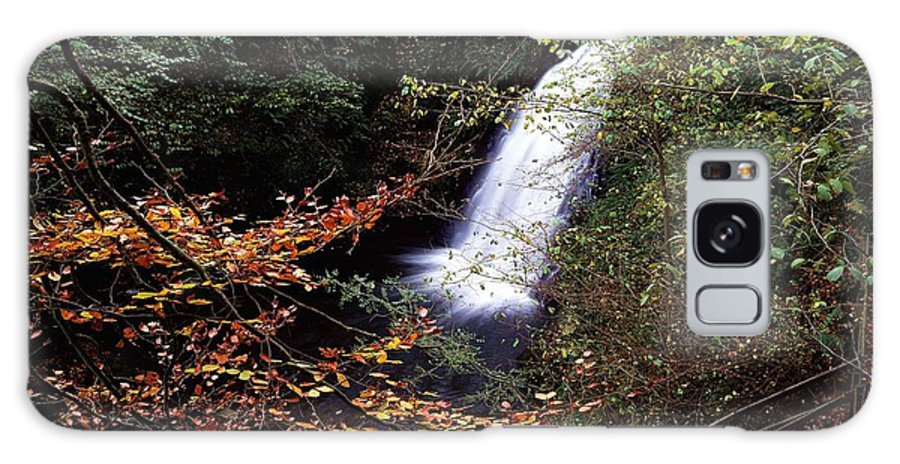 Church Galaxy S8 Case featuring the photograph High Angle View Of A Waterfall, Glenoe by The Irish Image Collection
