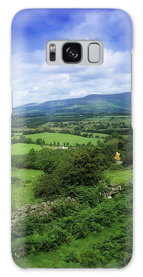 Co Wicklow Galaxy S8 Case featuring the photograph High Angle View Of Fields On A by The Irish Image Collection