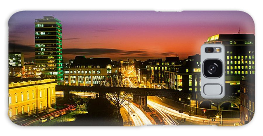 Administration Galaxy S8 Case featuring the photograph High Angle View Of Traffic Moving In A by The Irish Image Collection