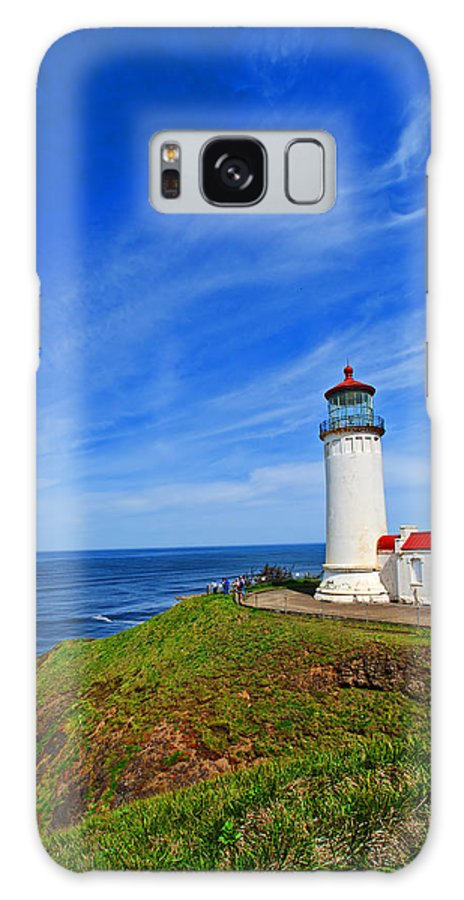 Coast Galaxy S8 Case featuring the photograph High Atop A Cliff by Jim Boardman