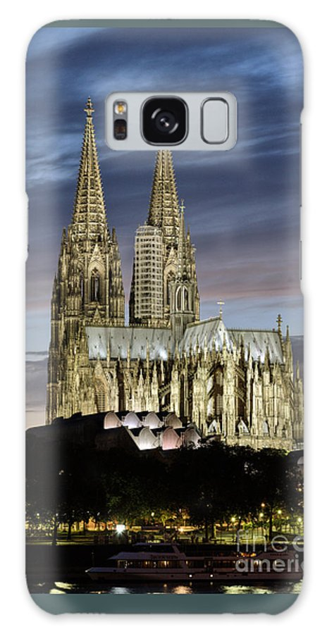 Cologne Cathedral Galaxy S8 Case featuring the photograph High Cathedral Of Sts. Peter And Mary In Cologne by Heiko Koehrer-Wagner
